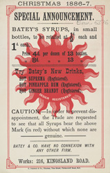 Advert For Batey's Syrups